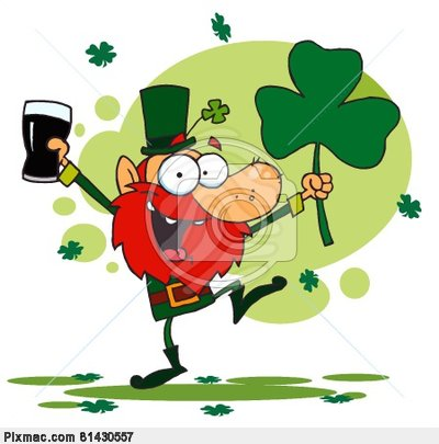 Dancing Leprechaun Clipart