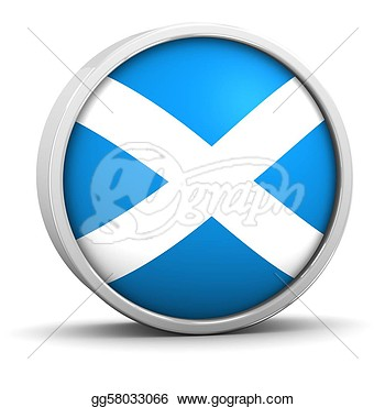 Drawing   Scottish Flag  Clipart Drawing Gg58033066