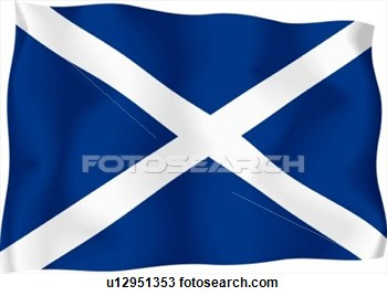 Drawing   Scottish Flag  Fotosearch   Search Clipart Illustration