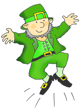 Free Pot Gold For Dancing And Singing Leprechaun Clipart Cartoon