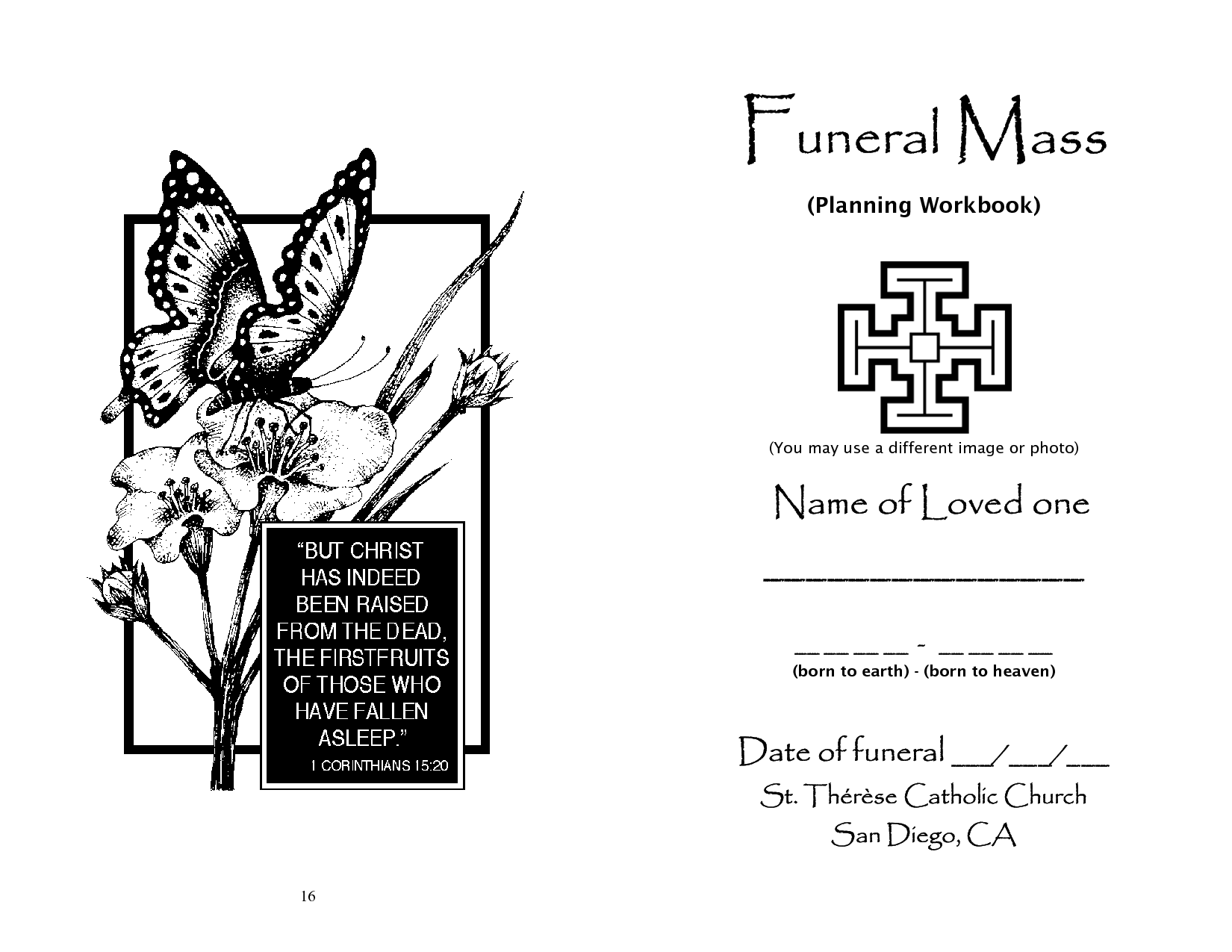 Funeral Liturgy Workbook By Lonyoo