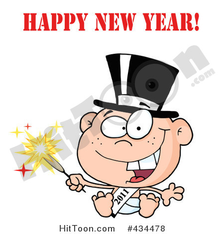 Happy New Year Clipart Father Time With The New Year Baby Clipart