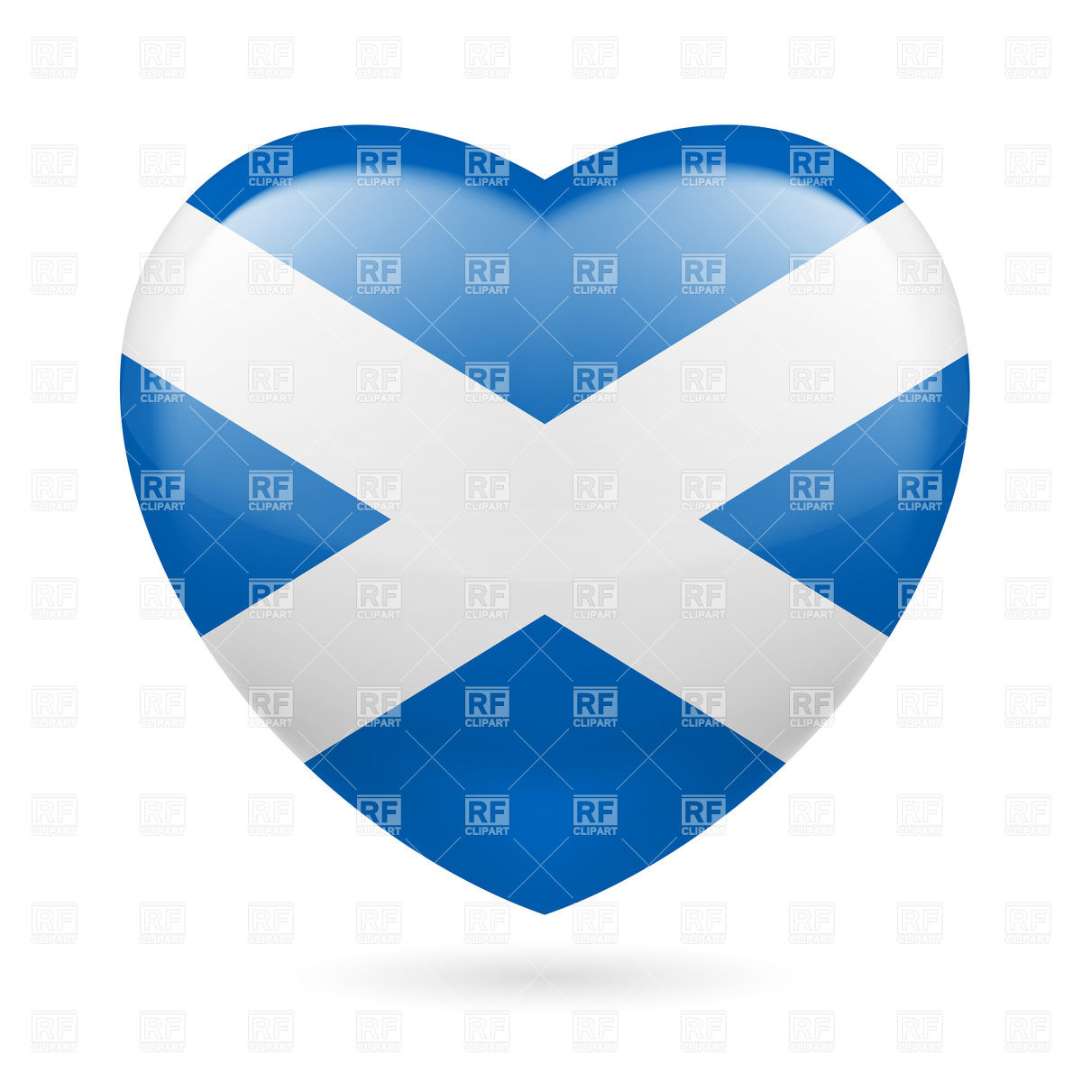 Heart With Scottish Flag Colors  I Love Scotland 31884 Download