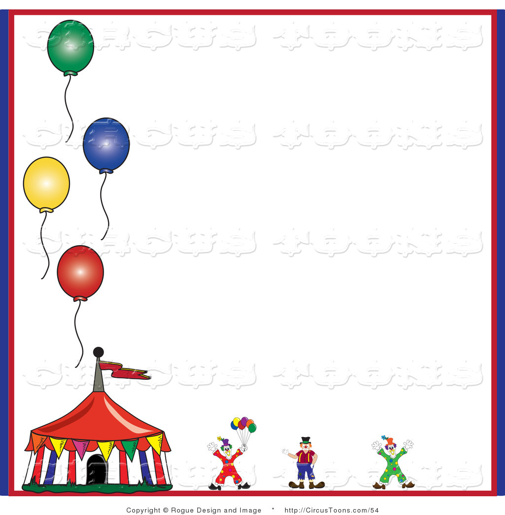 Larger Preview  Circus Clipart Of A Circus Clown And Tent With Four