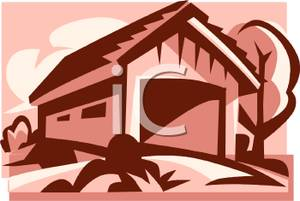 Old Covered Bridge   Royalty Free Clipart Picture
