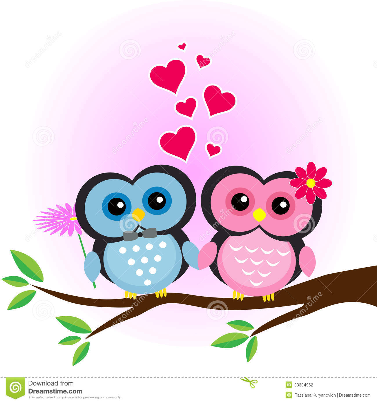 Pink Owl On Branch Clip Art Owl On Branch Clip Art