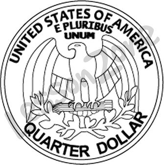 Quarter Black And White Clipart - Clipart Suggest