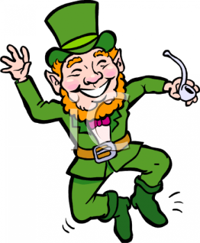 Royalty Free Clipart Image  Happy Little Leprechaun Dancing