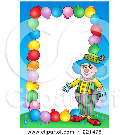Royalty Free  Rf  Clipart Illustration Of A Border Of Party Balloons