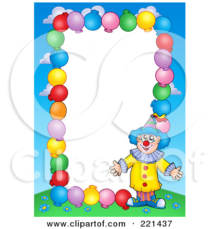 Royalty Free  Rf  Clown Border Clipart Illustrations Vector Graphics