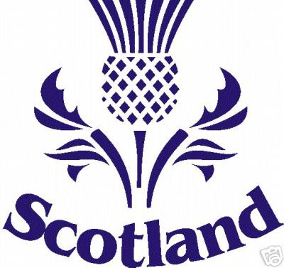 The Scottish Thistle Emblem Is Applied To The Garment Using A High