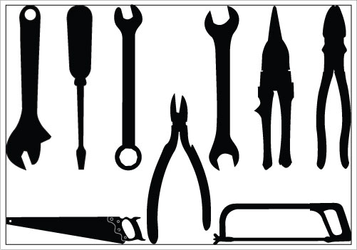 Writing Tools Clipart Black And White