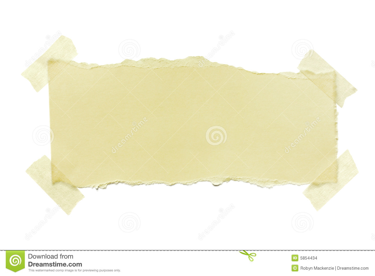Torn Paper With Masking Tape Stock Images   Image  5854434