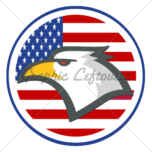 2379 Royalty Free Rf Clipart Illustration American Eagle American Head