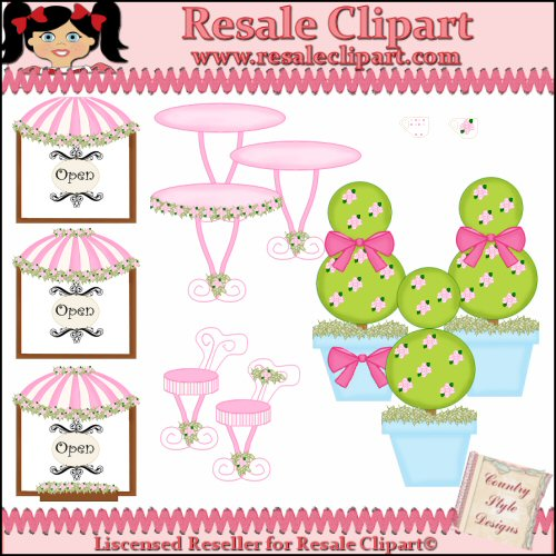 Boutique Cafe 1 Resale Clipart By Country Style Designs