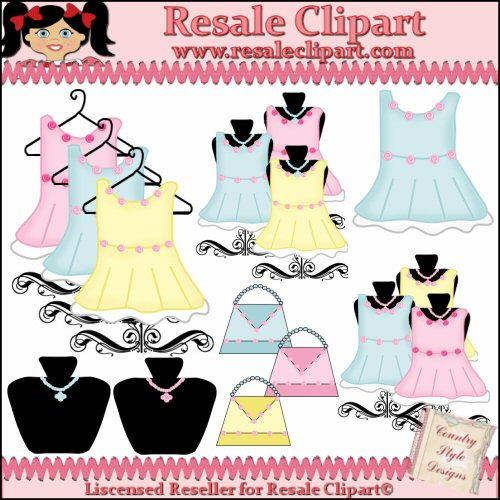 Boutique Cloths1 Resale Clipart By Country Style Designs Cu