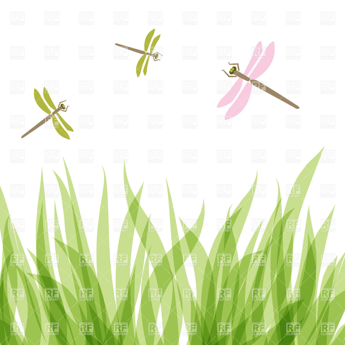 Dragonfly Border Clipart - Clipart Kid