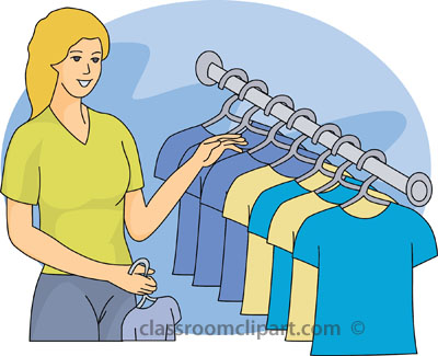 Clothes Shopping Clipart Clothing