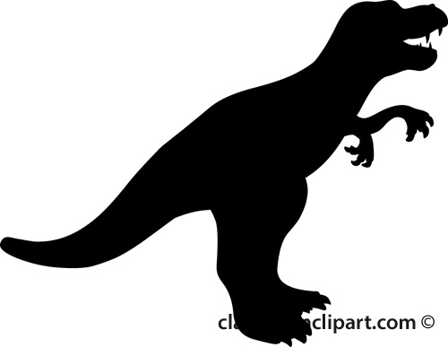 T-rex Silhouette Clipart - Clipart Kid