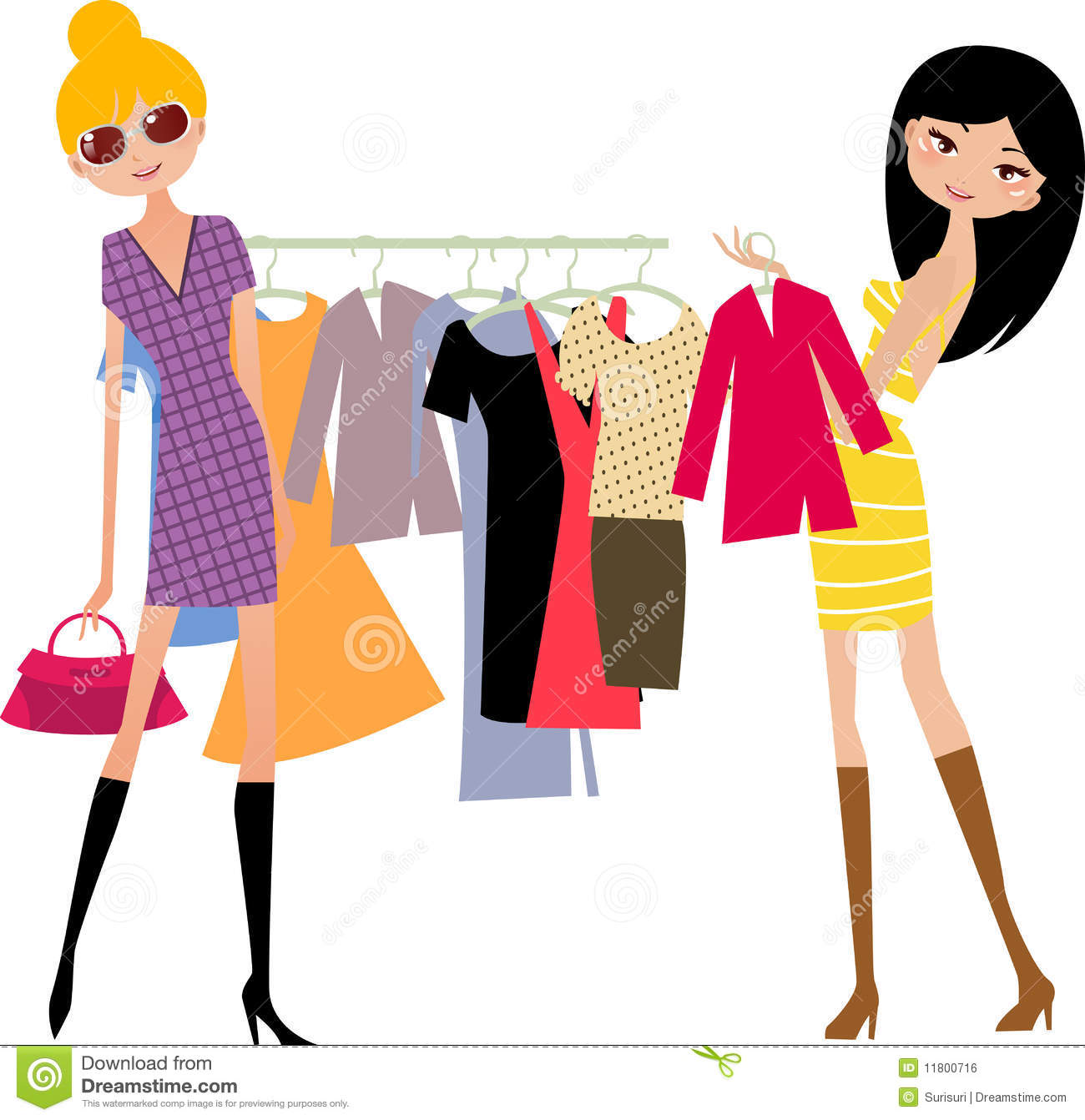 clothes shopping clipart clipart suggest