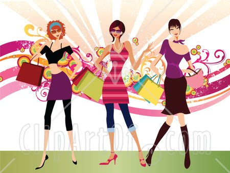 In Stylish Clothing Carrying Shopping Bags And Purses And Shopping Jpg