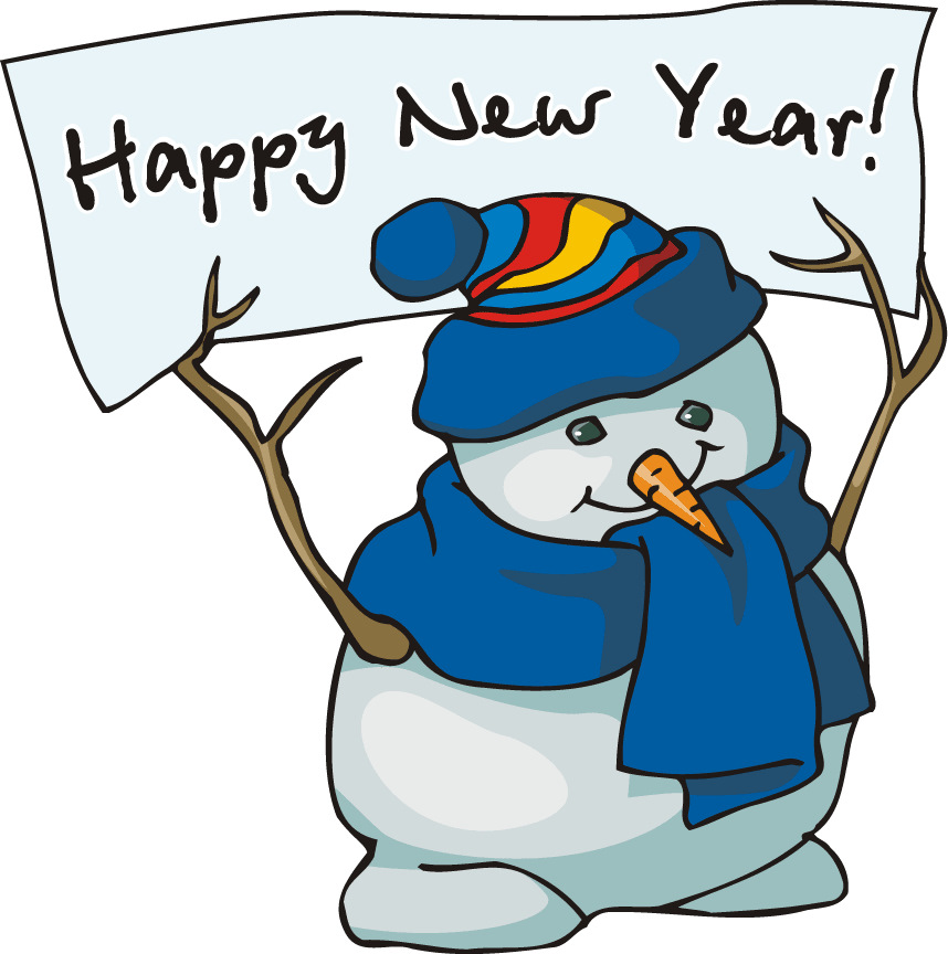New And Free 2014 Happy New Year Snowman Clip Art For Kids