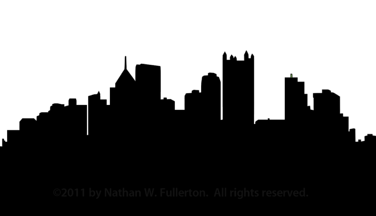 Pittsburgh Skyline Silhouette Dpi   Free Images At Clker Com   Vector