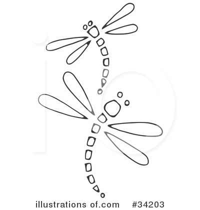 Whimsical dragonfly drawings - photo#27