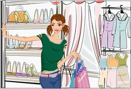 Shopping Outdoor Mall French Boutique Style Illustrations And Clipart