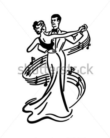Source File Browse   Vintage   Couple Dancing 2   Retro Clip Art