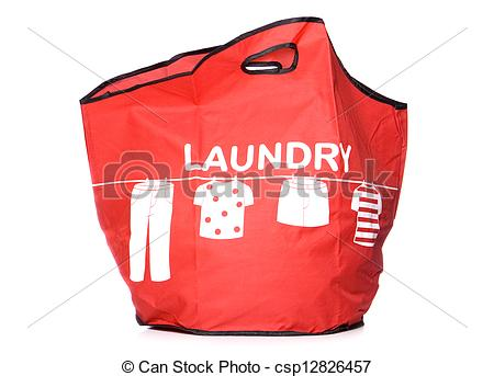 Stock Images Of Red Laundry Carry Bag Cut Out   Red Laundry Carry Bag