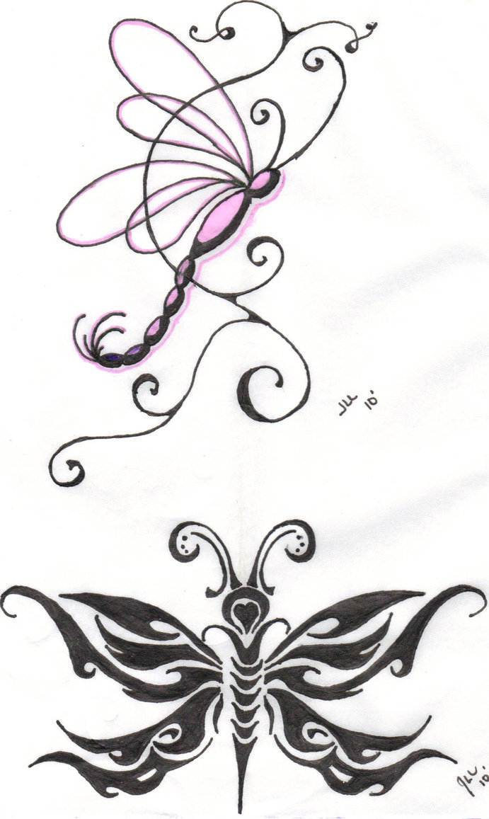 Whimsical dragonfly drawings - photo#4