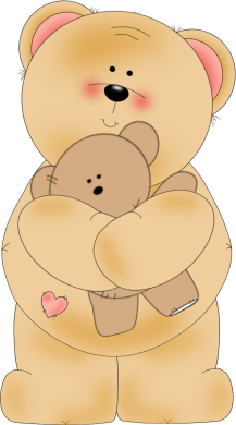 Bear Hugging A Teddy Bear Clip Art   Bear Hugging A Teddy Bear Image