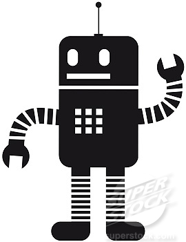 Robot Black And White Clipart - Clipart Suggest