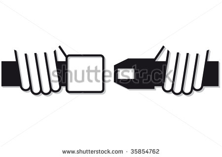 Buckle Up Road Sign Stock Vector Clipart Green Road Sign For Buckle