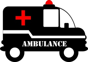 Ambulance Clip Art Black And White 79306 | RAMWEB