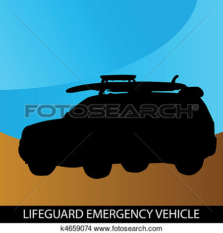 Clipart   Lifeguard Emergency Vehicle  Fotosearch   Search Clip Art