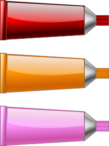 Color Tube Red Orange Pink Clip Art