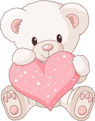 Cute Valentine Bear Clipart