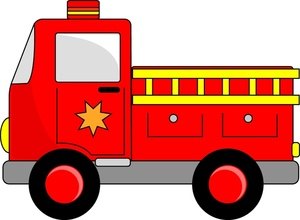 Fire Engines Clipart Image   Emergency Vehicles   A Red Fire Engine