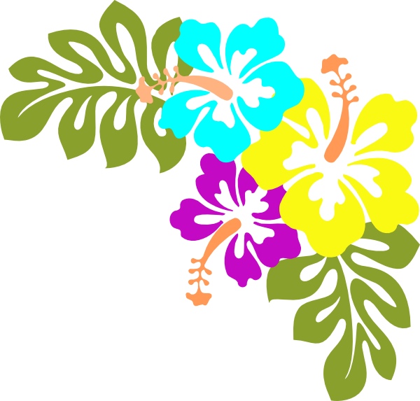 Hawaiian Luau Flower Clip Art
