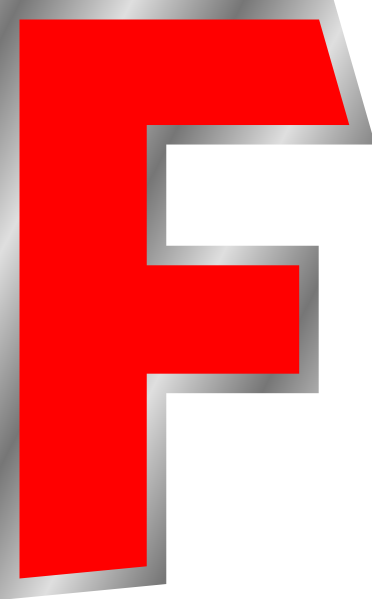 One Line Letter Art : Letter f clipart suggest