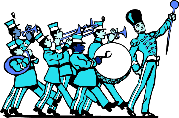 Marching Band 1 Vector Clip Art Pictures