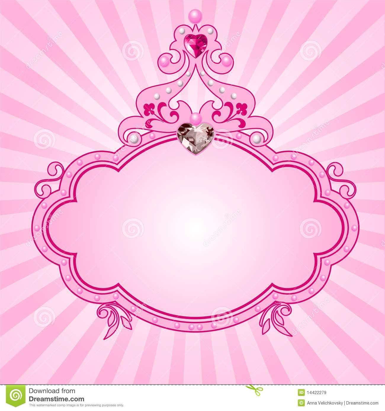 pink frame princess pink frame