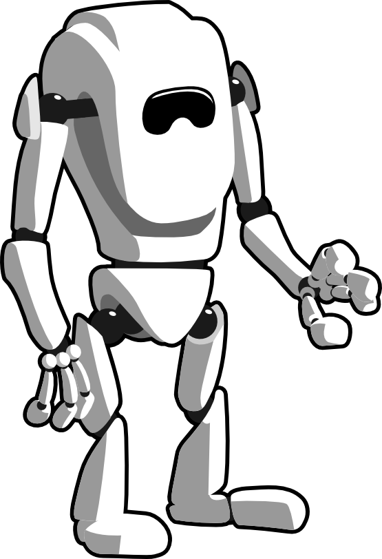 Robot Black White Art Geometry Clipartist Net Poster Art Clip Art
