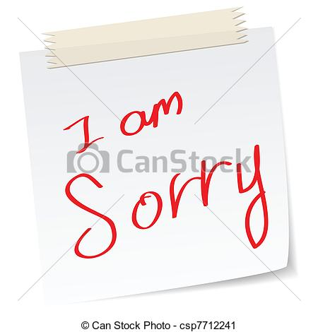 Vector   I Am Sorry Apologies   Stock Illustration Royalty Free