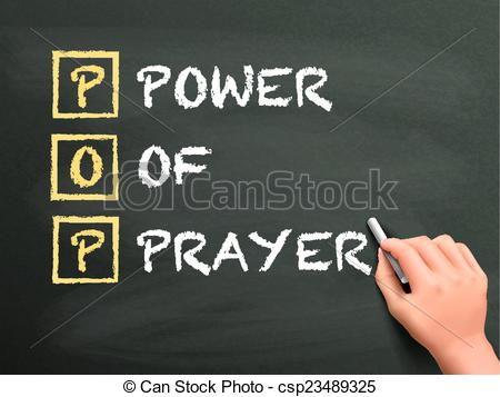 Vector   Power Of Prayer Written By Hand   Stock Illustration Royalty