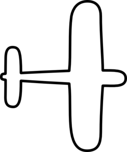 Airplane Outline Clip Art At Clker Com   Vector Clip Art Online