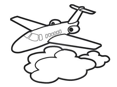 Airplane Outline   Clipart Best