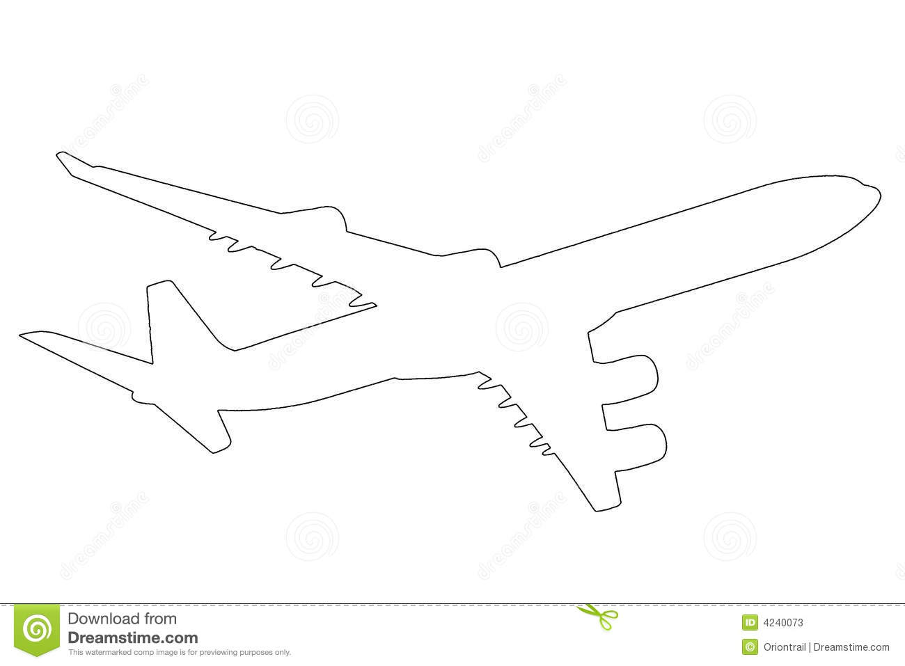 Airplane Outline Illustration Stock Photos   Image  4240073